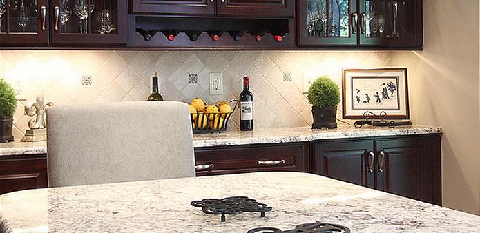 Bianco Romano Cherry Cabinets